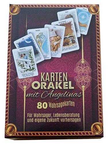 Karten Orakel mit Angelinas 80 Wahrsagekarten: Für Wahrsager, Lebensberatung und eigene Zukunft vorhersagen (Set: Kartendeck + eBook)