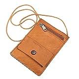 BOCCX Kleiner einfacher Brustbeutel Leder Security Wallet Brusttasche GoBago