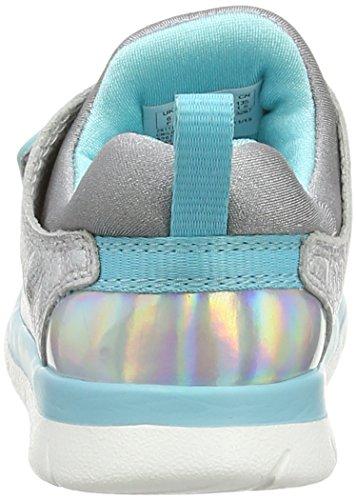 Clarks Ath Cool Fst Unisex Baby Lauflernschuhe Grau (Metallic Leather)