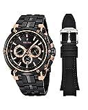 Festina Herren Chronograph Quarz Uhr mit Edelstahl Armband F20329/1