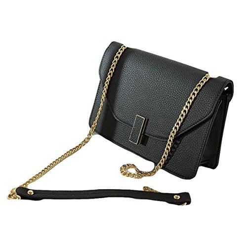 Arbeiten Sie Handtaschen-Schulter-Kurier-Stadtstreicherin-Kette Kleines Quadrat-Paket Black