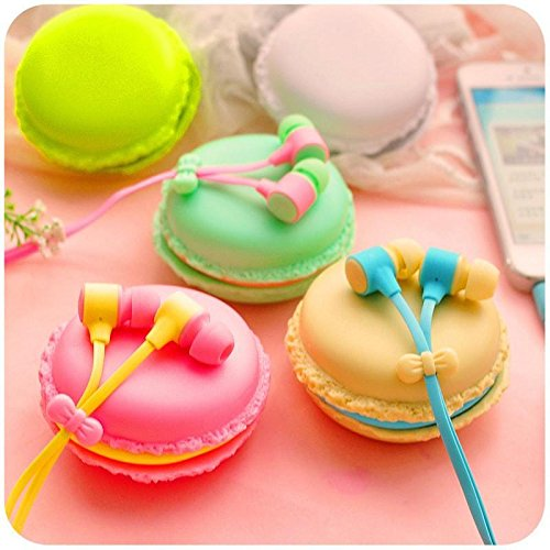 K8U143 @FATO Portable Macaron Case Storage Box 3.5mm In-Ear Earphone Headphone for iPhone X Samsung S7 S8 Xiaomi (Macaron-box-party Favor)