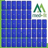 MED-FIT 5x10cm Flexi STIM 40 x 3.5mm Stud (tipo snap/boton) TENS Almohadillas autoadhesivas encajan con BEURER, SANITAS y VIRTUALMENTE todas las Maquinas de masaje TENS en Amazon.