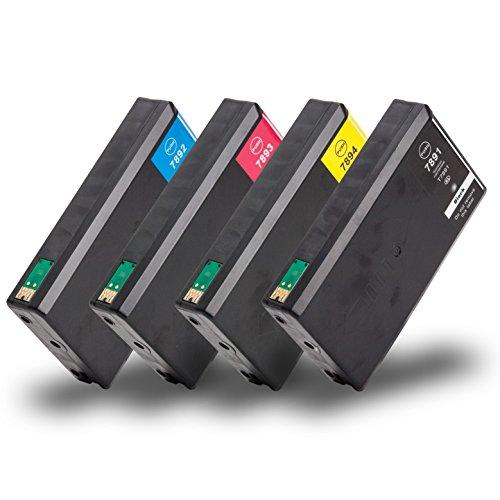 Multipack 4 Cartucce di inchiostro compatibile con Epson T7891-T7894 con CHIP per WorkForce Pro WF-4600 Series WF-4630 DWF WF-4640 DTWF WF-5100 Series WF-5110 DW WF-5190 DW WF-5600 Series WF 5620 DWF WF-5690 DWF