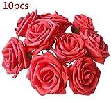 10pcs PE künstliche Schaum Rose Blumen Bouquet Bunch Echt aussehende gefälschte Rosen w/Stem für Hochzeit Brautjungfer Brautstrauß Hotel Home Party Dekorationen von TheBigThumb