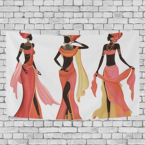 JSTEL afrikanische Frauen Wandteppich Wandbehang Dekoration für Wohnzimmer, Wohnzimmer, Wohnzimmer, Tisch, Überwurf, Tagesdecke, Wohnheim, 100 x 150 cm, Multi, 150 x 130 cm - Afrikanische Wohnzimmer Tisch