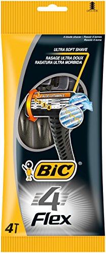 BIC 4 Flex Rasierer Set Männer / Männer Rasierer mit 4 Klingen / Auch für empfindliche Haut / Minimiert Hautirritationen / 8er Set (2 x 4 Rasierer)