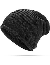 39bcfa5cc04 Tradico Women Knitted Woolen Stripe Beanie Hat Casual Foldable Cap