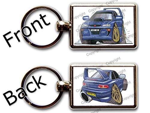 subaru-impreza-sti-voiture-de-sport-officielle-koolart-porte-cles-chromee-de-qualite-photo-different
