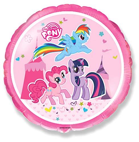 Ballonim My Little Pony Zirkus Pink Rund ca. 45cm Luftballons Folienballon Party Dekoration Geburtstag