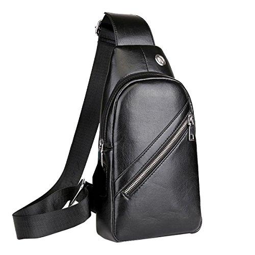 Yy.f Neue Männliche Tasche Schulranzen Sicherheit Herren-Brust-Pack Feature-Phones Wiederaufladbare Taschen Farbe 3 Black