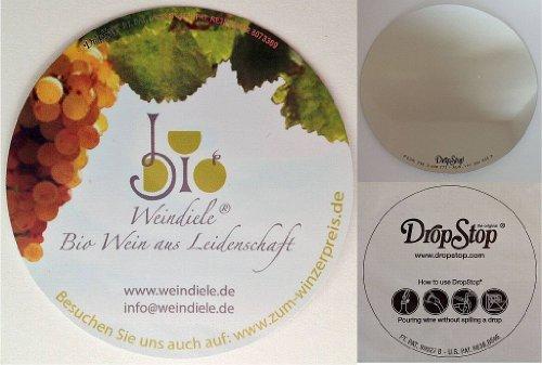 BIO Weingeschenkbox mit DropStop – Dornfelder Weingut Gustavshof Rheinhessen QbA 2010 1000ml Rotwein - 3