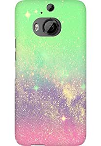 AMEZ designer printed 3d premium high quality back case cover for HTC One M9 Plus (sparkle shimmer)