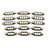 X AUTOHAUX 15x for Audi Allroad (C5) 2001-2005 Canbus Car White LED Interior Dome Map Reading Glove Box Courtesy Door Light Kit
