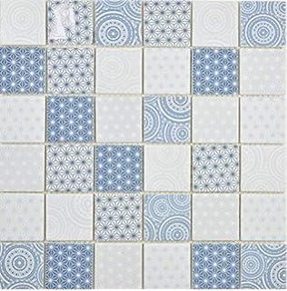 10 Mosaikmatten Keramikmosaik Metro Subway Mosaik Fliesen Mosaikfliesen Keramik Kachel elfenbein Wandverkleidung Fliesenspiegel K/üchenr/ückwand Mosaikfliese Badewannenverkleidung