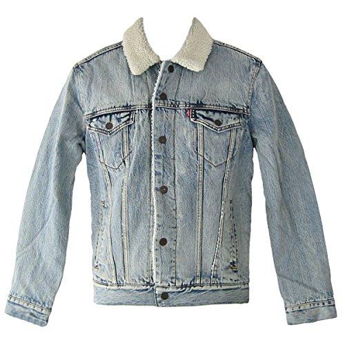 Levi's sherpa, giacca in jeans donna, blu (light denim), medium (taglia produttore:48)