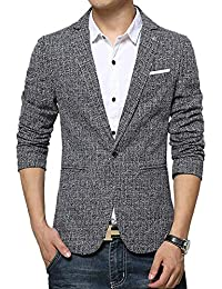 Lannister Fashion Slim Fit Freizeit Baumwolle Herren Sakko Blazer  Anzugjacken Business Bekleidung 1 Knopf Sakko Slim 3f84f17cf9