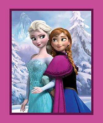 Baumwoll-gewebe-panel (Disney Frozen/Anna und Elsa, Baumwolle, für Patchworkarbeiten, Quilts, aus Stoff, 90 x 110 cm)