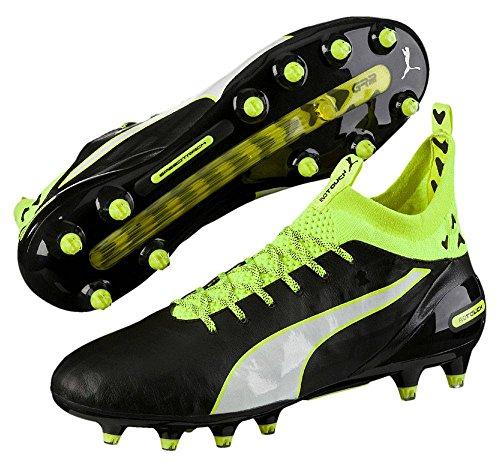 Puma Evotouch Pro Fg, Scarpe da Calcio Uomo Nero / giallo neon