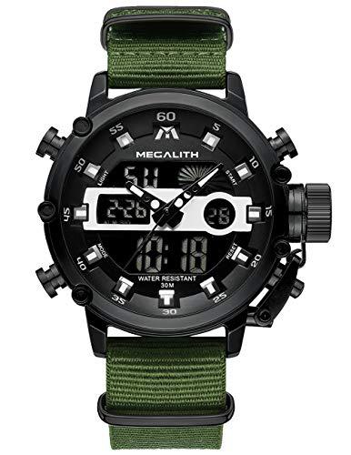Relojes Hombre Reloj Militar Deportivos Digital Impermeable LED Cronometro Calendario Fecha Electrónico...