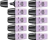 Surligneur pastel - STABILO BOSS MINI Pastellove - Lot de 10 surligneurs - Brume de lilas