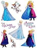 Unbekannt 9 tlg. Set _ Fensterbilder -  Disney die Eiskönigin - Frozen  - Sticker Fens..