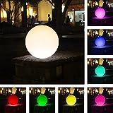 SL247 Schwimmender LED Ball 30cm I Pool LED Garten Beleuchtung 16 Verschiedene Farben Einstellbar I Kabellose Induktionsaufladung