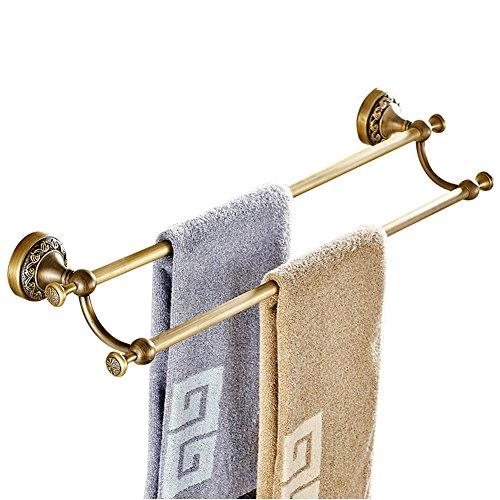 CASEWIND Doppel Handtuchhalter, alle Antik Retro Messing finished Europäisch Vintage Design zum...