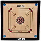 KDM M-24 Unisex Carrom Board Wooden 23 x...