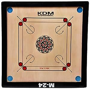 KDM M-24 Unisex Wooden Carrom Board 23 X 23 Inch