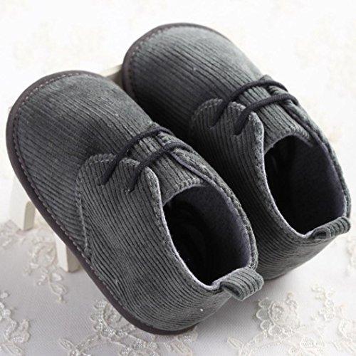Hunpta Babyschuhe Mädchen Jungen Lauflernschuhe Baby Kleinkind Kleinkinder Stiefel Schuhe Binde weiche Sohle Prewalker Krippe Schneeschuhe (13, Kaffee) Gray