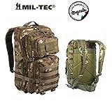 Mil-Tec Military Army Patrol Zaino da assalto 20L MOLLE, tattico e da pattuglia, Vegetato