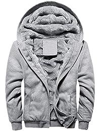 Abrigo De Moda De Los Hombres De Manga Espesa Capucha con Vintage Larga Abrigo De Abrigo