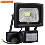 MEIKEE Security Lights with Motion Sensor, 10w Waterproof IP66 Led Sensor Outdoor light, High Output 1000lumen Super Bright LED PIR Floodlight, 60w Halogen Lights Equivalent Replacement, Ideal for Garden, Car park, Hotel and Forecourt.
