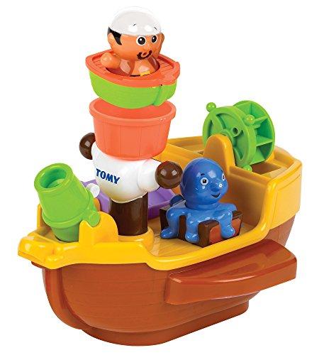 Tomy Spielzeug Schiff Piratenschiff mehrfarbig - hochwertiges Kleinkindspielzeug - Piratenschiff Spielzeug für die Badewanne - ab 18 Monate