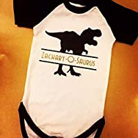 Personalised Dinosaur baby outfit - First Birthday outfit - Cake smash - Custom name on Bodysuit - Baby boy outfit - 1st Birthday dino outfit - Dinosaur birthday - Photo prop - Baby boy first