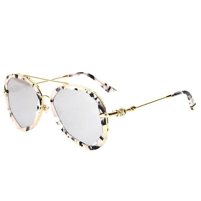 Wkaijc Polygon Farbfilm Mode Individualität Kreativität Mode Freizeit Reflexion Sonnenbrillen Sonnenbrillen ,D