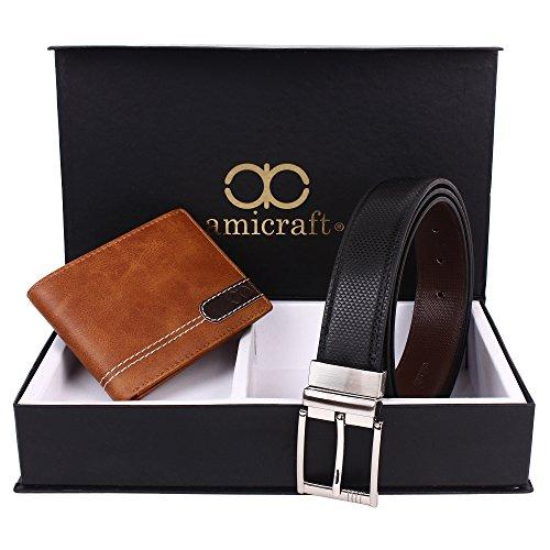 Amicraft Men's Combo Pack Of Wallet & Belt