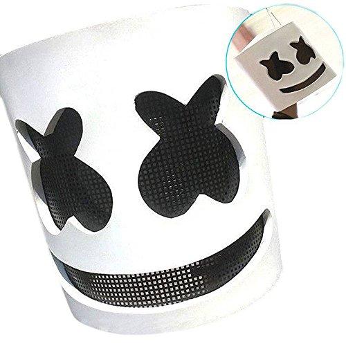 Marshmello DJ Maske Full Head Helm Halloween Cosplay Maske Bar Musik Requisiten ()