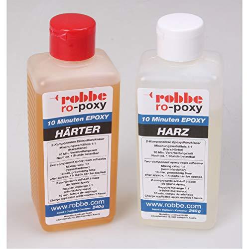 ROBBE RO-POXY 10 Minuten EPOXYDHARZKLEBER 480G JE 240G Harz+HÄRTER