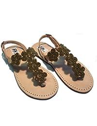 Sandali Originali Kenya Modello Fiore Argento Collezione Sisi Mbili (38)