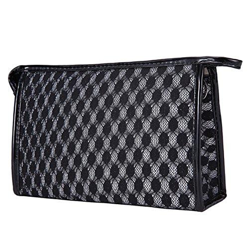 Mesh-kupplung (Butterme Mode Mädchen höhlen Reise Make-up-Mesh PVC-Verbund aus kosmetischen Beutel Lagerhalter Fallhandtasche Kupplung Handtasche Dame Casual Handtasche)