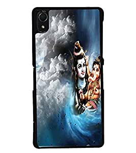 PRINTSWAG LORD SHIVA WITH GANESH Designer Back Cover Case for SONY XPERIA Z2