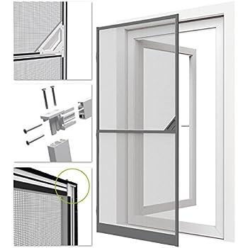 Easy life proline moustiquaire de porte porte fen tre cadre en aluminium 100 x 215 cm for Porte fenetre 240 x 215