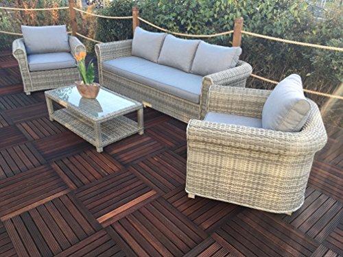 Royalcraft win3sof 6Stück Windsor Deluxe geschoben Sofa-Set, grau (Dining Chair Windsor)