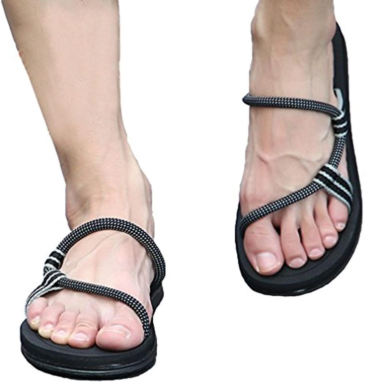 Outdoor Rutschfeste Sandalen Flachen Sandalen Stil Strand Schuhe Dual Use für Männer und Frauen  Asiatische 36Outdoor Rutschfeste Sandalen Flachen Dual Use Asiatische