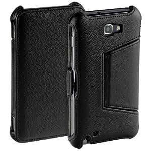 """Edle Book-""""SnapIn""""-Style Tasche mit Standfunktion - Ultra Flach - für Ihr Samsung Galaxy Note i9220 N7000"""