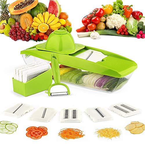 5-in-1-multifunktions-gemüseschneider Und Aufschnitthobel Für Gemüse, Obst Und Fleisch - Leicht Zu Reinigen