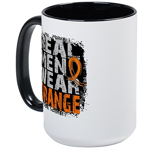 CafePress Kaffeetasse, Motiv Real Men Leukemia, groß, 425 ml Kaffeetasse, Weiß Large White/Black Inside