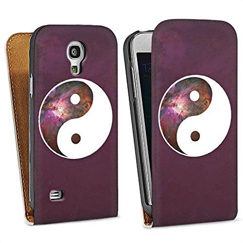 DeinDesign Samsung Galaxy S4 Mini Tasche Hülle Flip Case Ying Yang Galaxy Galaxie